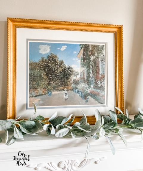 gold frame Monet oil painting Argenteuil