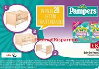 Logo Pampers '' Ti segue nella crescita'': vinci 20 lettini trasformabili (222€ ciascuno)