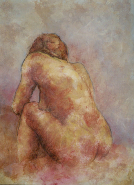 Nude Misty - Painting - Rosemary Marchetta