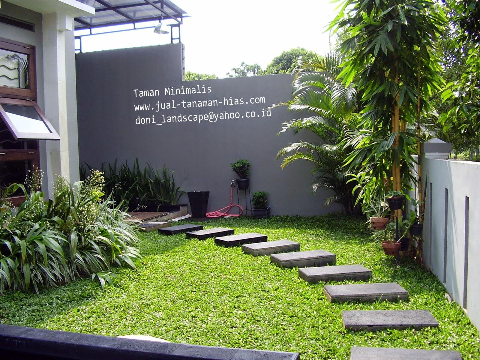taman rumah tinggal sederhana