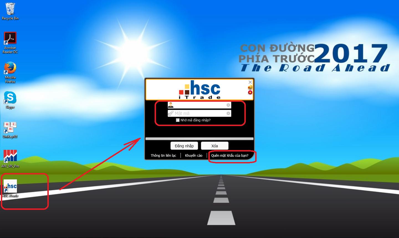 Đăng nhập Tài khoản Chứng khoán HSC - Phiên bản HSC iTrade