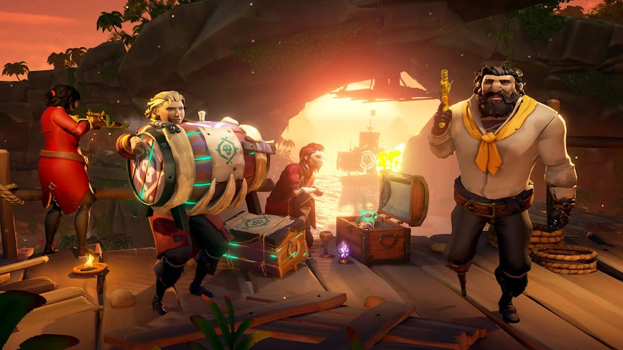 sea of thieves heart of fire pirate legends athenas run voyage doubloon free monthly content update dlc pc xb1 dlc rare studio