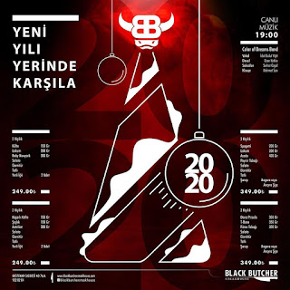 Black Butcher Steak House Ankara Yılbaşı Programı 2020 Menüsü