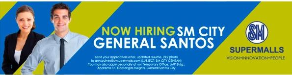 Job Hiring @ SM City General Santos | South Cotabato News