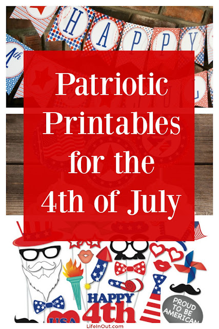 Patriotic Printables for the 4th of July from LifeInOut.com