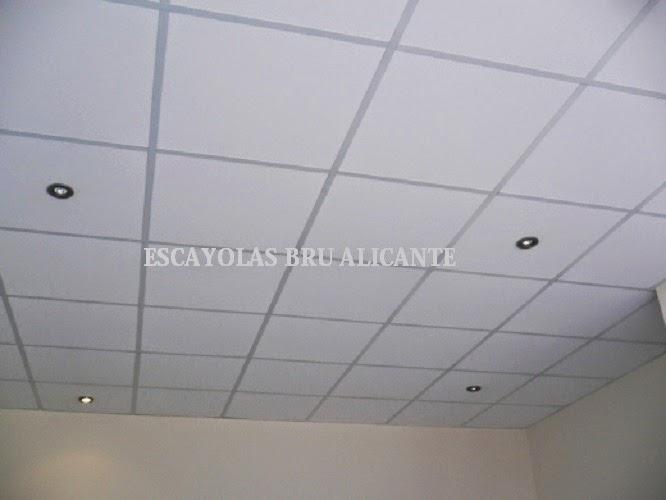 Escayolas bru alicante techos desmontables for Techo desmontable escayola