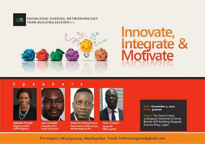HR Forum Nigeria Present Innovate, Integrate & Motivate