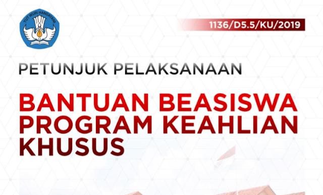 Beasiswa Program Keahlian Khusus Siswa SMK Tahun 2019