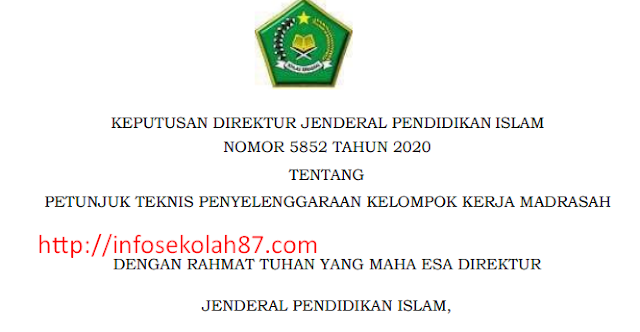 JUKNIS Penyelenggaraan Kelompok Kerja Madrasah (KKM)