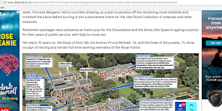Bild med karta över vilka som bor på Kensington Palace