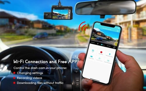 Review COOAU GPS and Wi-Fi Dual 1080P Dash Cam
