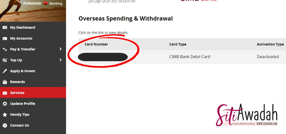 cara aktifkan kad debit cimb secara online