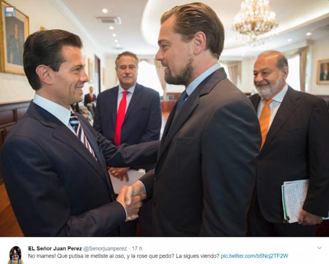 Peña Nieto se reúne con DiCaprio; y sí, el MEME del 'Planeta de los simios' lo resume perfecto