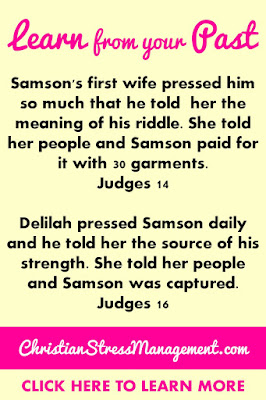 Learn from your past Bible study lesson from Judges 14 and 16