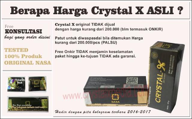 gambar berapa harga crystal x asli