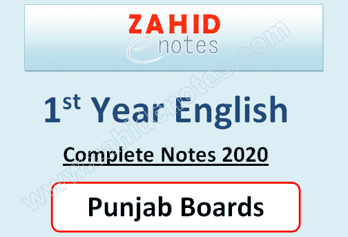 class 11 English notes 2020 pdf punjab boards