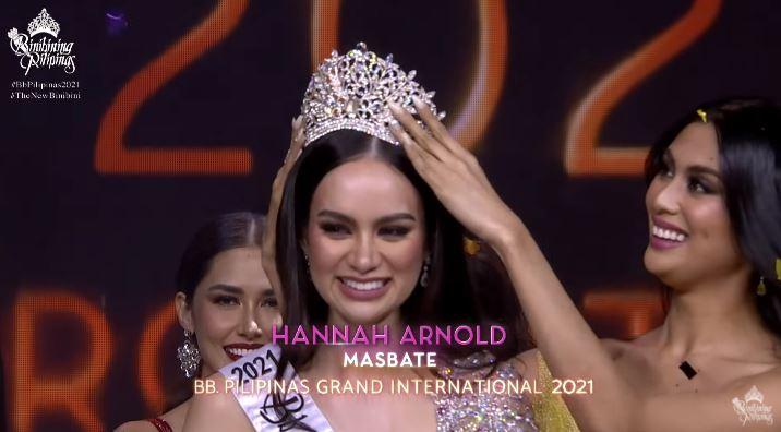 Hannah Arnold wins Bb Pilipinas International 2021