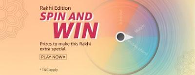Amazon Rakhi Edition Spin and Win Quiz