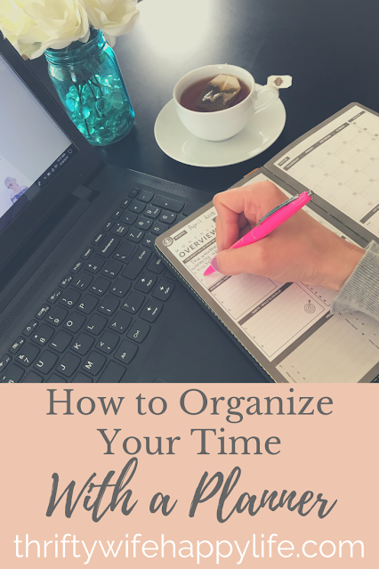 How to organize your time with a planner #organzining