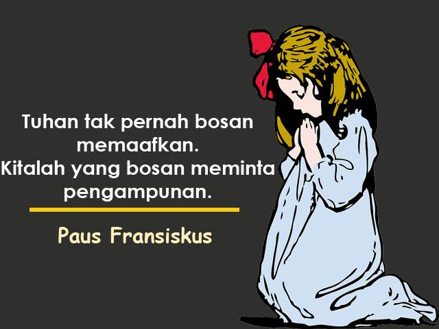 kata mutiara inspiratif dari paus fransiskus