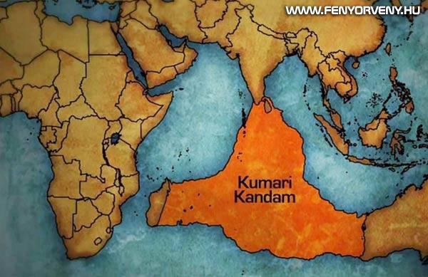 Kumari Kandam, az elsüllyedt ősi kontinens