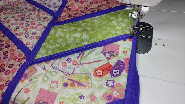 machine sewing binding
