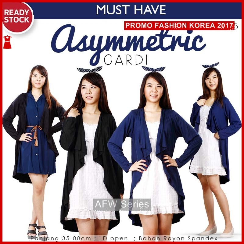 BAMFGW121 Asymmetric Kardigan Kimono Wanita