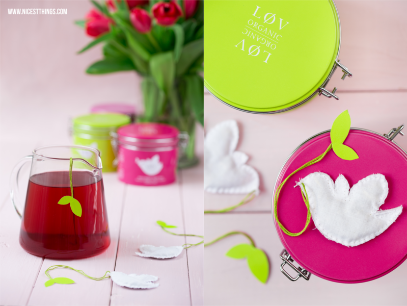 Vögelchen Teebeutel nähen mit Lov Organic Oster DIY Ideen Frühling Ostern