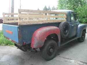 the old truck ranch 1956 international 4x4 pickup truck. Black Bedroom Furniture Sets. Home Design Ideas