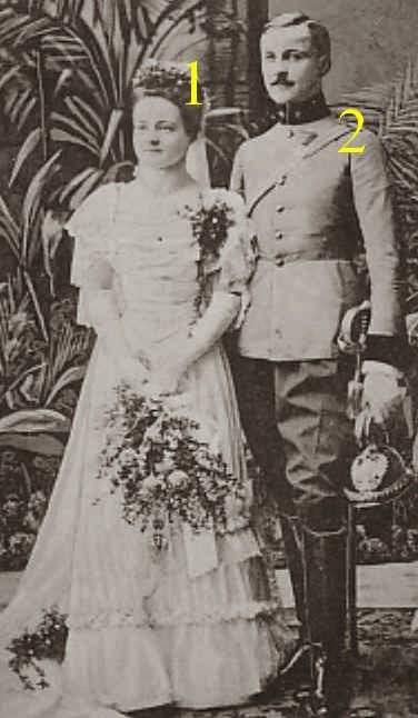 Mariage de Marie Reuss et de Ferdinand von Gnagnoni