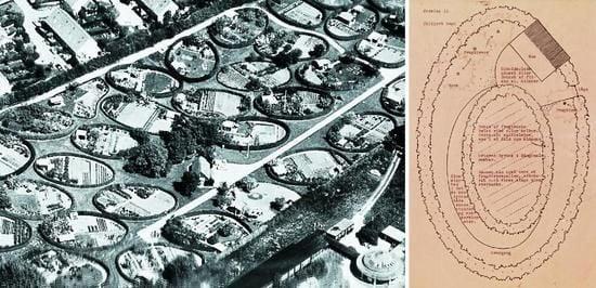 Bản thiết kế của kiến trúc sư Sørensen về các khu vườn hình bầu dục