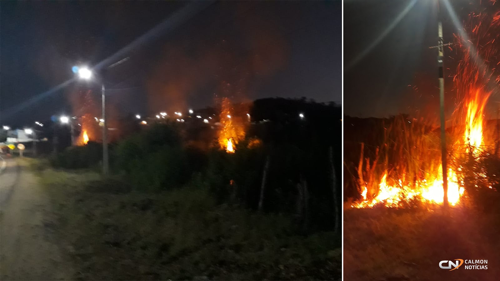 Miguel Calmon: Inicio de incêndio em lagoa assusta moradores