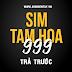 Sim Viettel Trả Trước - Số Tam Hoa dạng x999x
