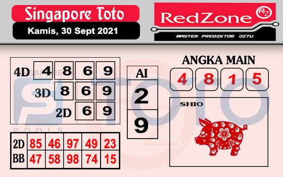 Redzone Sgp Kamis 30 September 2021