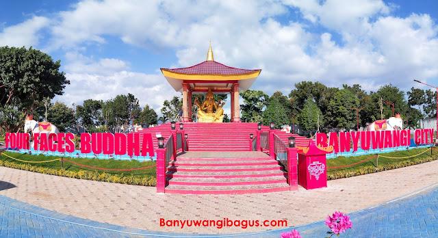 Patung four faces Buddha di Banyuwangi.