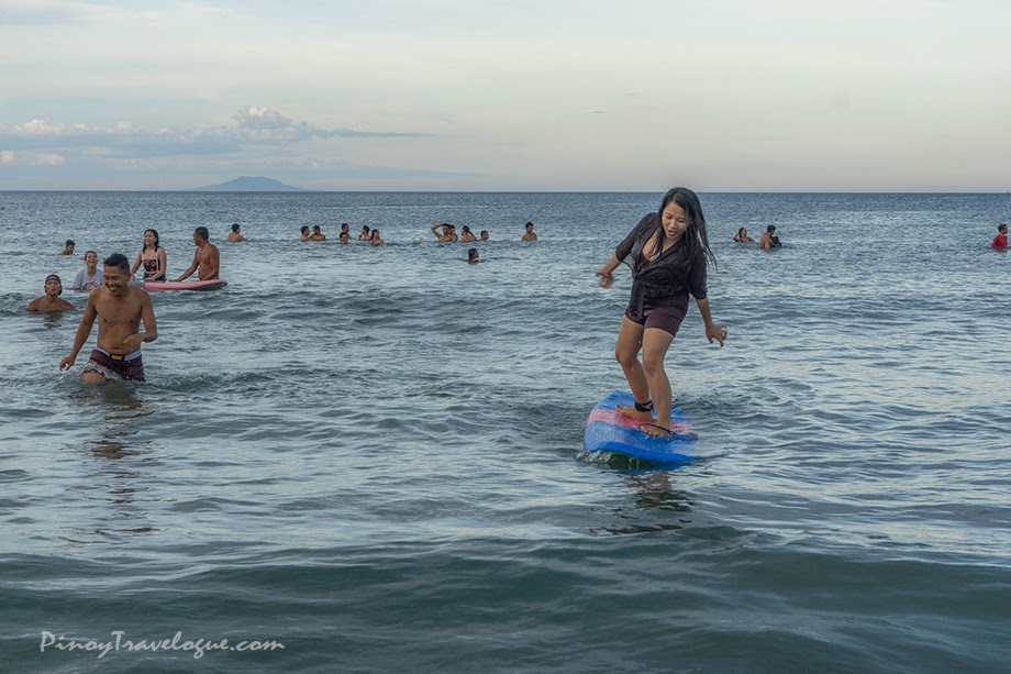 Newbie surfers at Sabang Beach, Baler