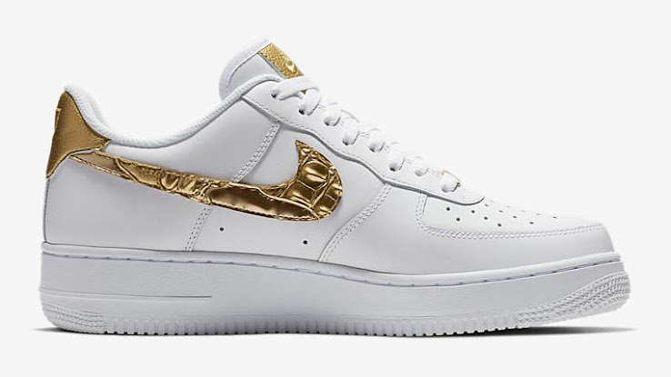 ac6c8bb285 Nike Air Force 1 CR7 'Golden Patchwork' - White / Gold Metallic. This is  the special-edition Nike Air Force 1 Cristiano Ronaldo ...