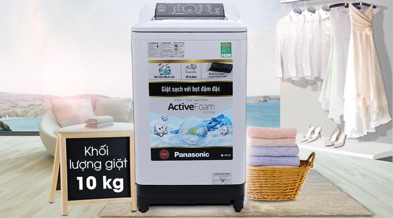 Thiết kế Máy giặt Panasonic 10 kg NA-F100A4GRV, khối lượng giặt 10 kg
