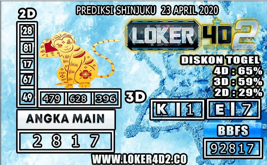 PREDIKSI TOGEL SHINJUKU LUCKY 7 LOKER4D2 23 APRIL 2020