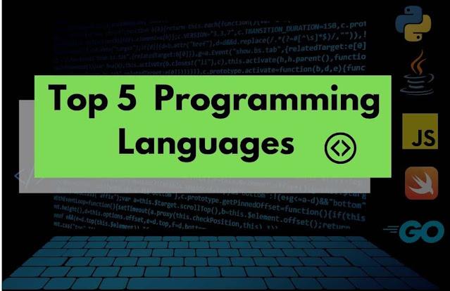 Top 5 programming Languages