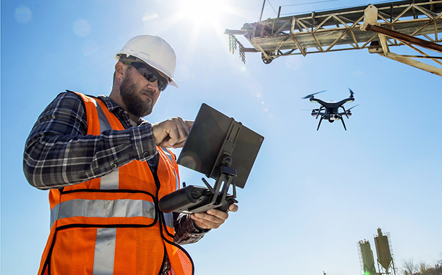 Drones for safe working