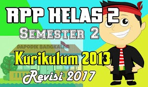 Download RPP Kelas 2 Semester 2 Kurikulum 2013 Revisi 2017