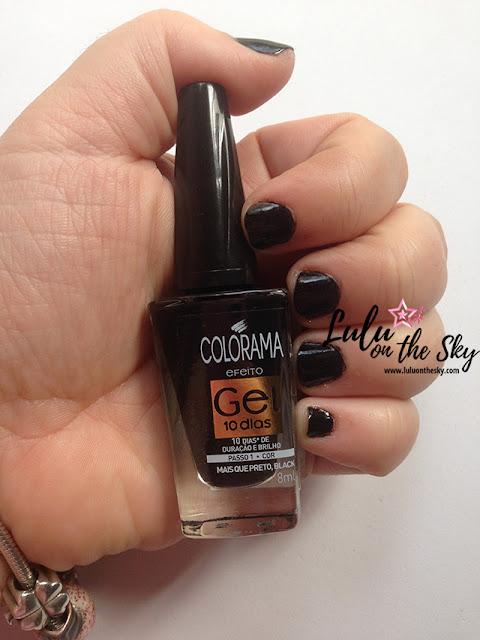 Esmalte Colorama efeito gel  Mais que preto, black