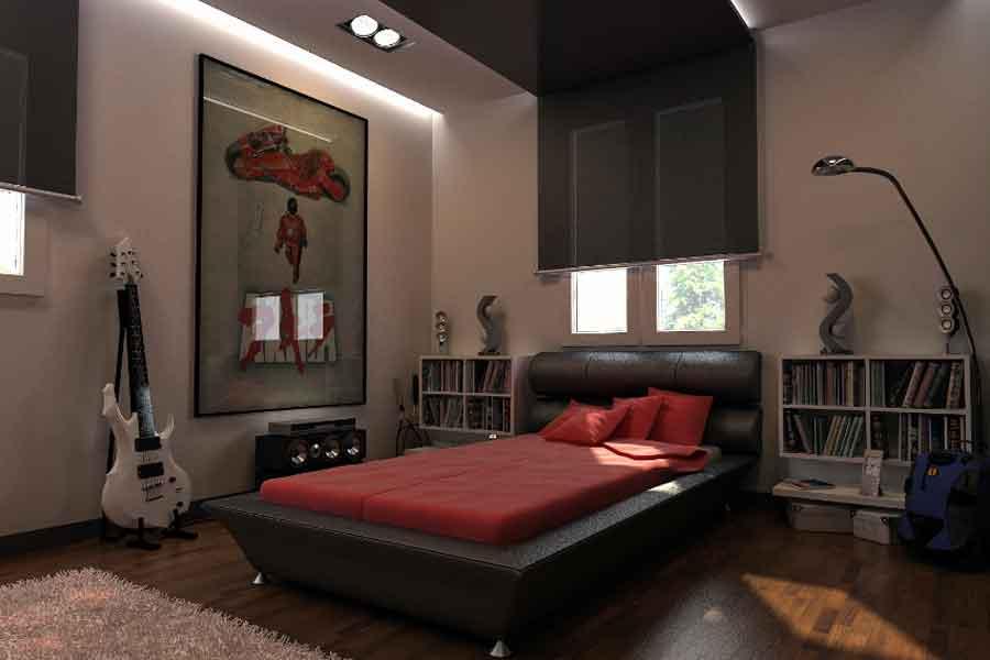 mendekorasi ruang kamar tidur cowok agar terlihat keren dan maskulin