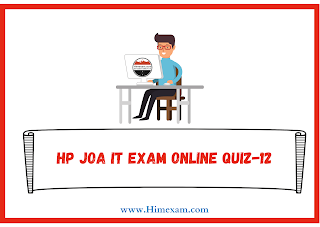 HP JOA IT Exam Online Quiz-12