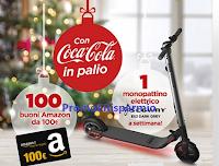 Logo Festeggia con Coca-Cola e MyChef : vinci buoni Amazon da 100€ e Monopattino elettrico