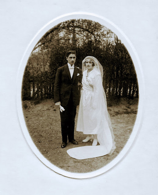 Photographie de mariage de mes grands-parents