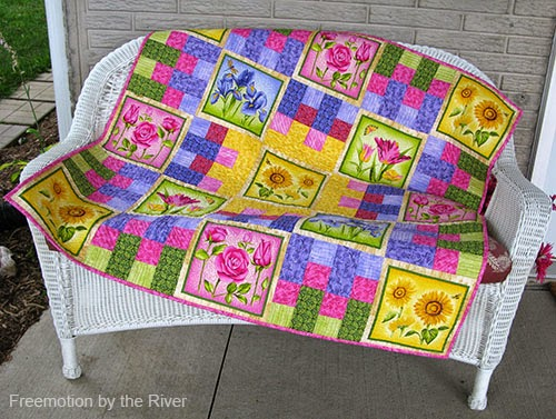 Flower Garden quilt by Freemotion by the River