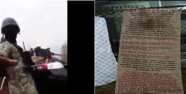 """Amenazan en Narcomanta a fuera de reclusorio ahora a Claudia Sheinbaum """" va empezar a pagar gente inocente"""""""