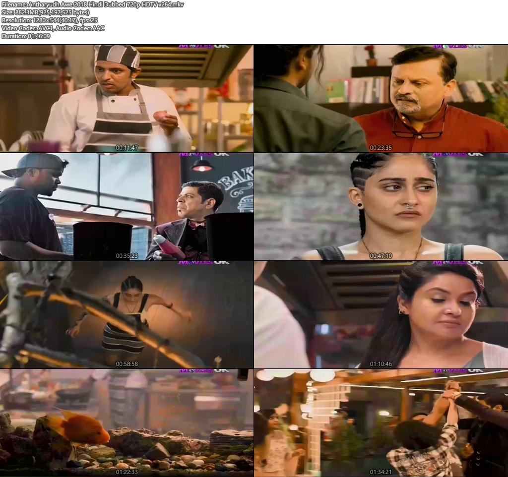 Antharyudh Awe 2018 Hindi Dubbed 720p HDTV x264 | 480p 300MB | 100MB HEVC Screenshot